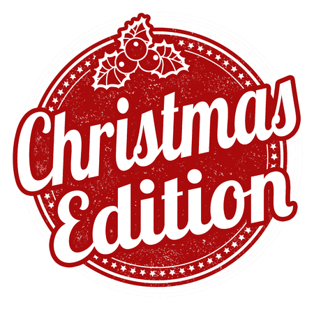 Christmas edition grunge rubber stamp on white background, vector illustration  イラスト・ベクター素材