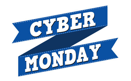 monday: Cyber monday banner design over a white background, vector illustration Illustration