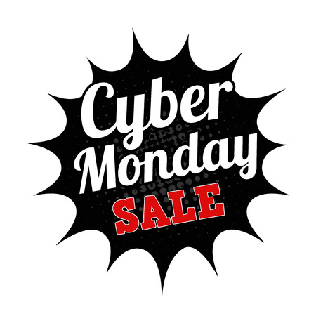 monday: Cyber Monday sale grunge rubber stamp on white background, vector illustration