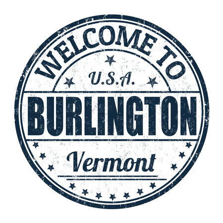 Welcome to Burlington grunge rubber stamp on white background, vector illustration