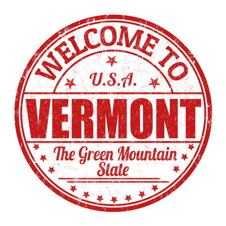 Welcome to Vermont grunge rubber stamp on white background, vector illustration
