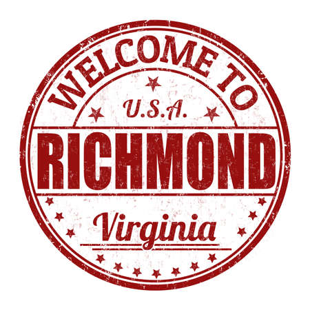 Welcome to Richmond grunge rubber stamp on white background, vector illustration Illustration