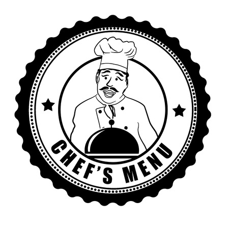 Chefs menu grunge rubber stamp on white background, vector illustration Vector