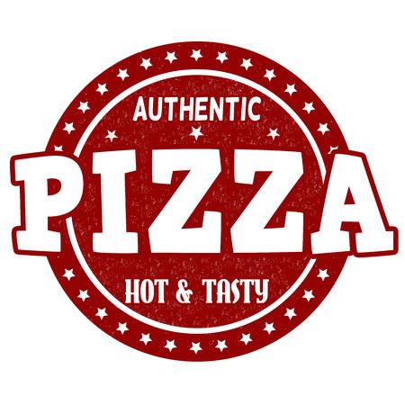 Pizza grunge rubber stamp on white background, vector illustration Vector