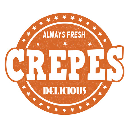 crepes: Crepes grunge rubber stamp on white background, vector illustration
