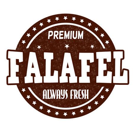 Falafel grunge rubber stamp on white background, vector illustration