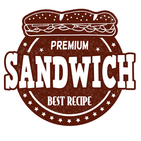 made to order: Sandwich grunge rubber stamp on white background, vector illustration