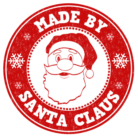 Made by Santa Claus grunge rubber stamp on white background, vector illustration Ilustrace