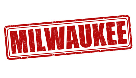 milwaukee: Milwaukee grunge rubber stamp on white background