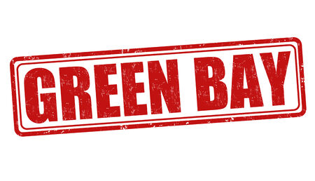 wisconsin: Green Bay grunge rubber stamp on white background Illustration