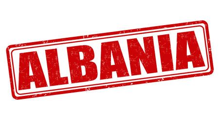 albanie: Albanie tampon en caoutchouc grunge sur fond blanc, illustration vectorielle