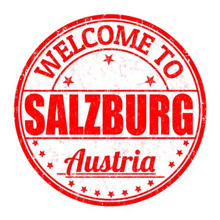 best travel destinations: Welcome to Linz, Austria grunge rubber stamp on white background, vector illustration