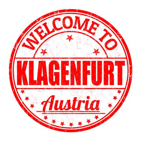 best travel destinations: Welcome to Klagenfurt, Austria grunge rubber stamp on white background, vector illustration Illustration