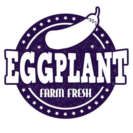 inspected: Eggplant grunge rubber stamp or label on white, vector illustration