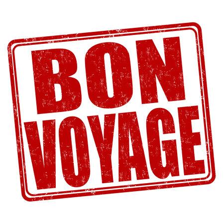 Bon voyage grunge rubber stamp on white background, vector illustration Ilustração