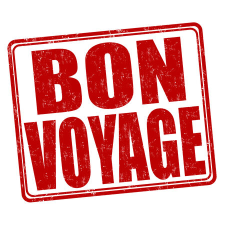 bon: Bon voyage grunge rubber stamp on white background, vector illustration Illustration