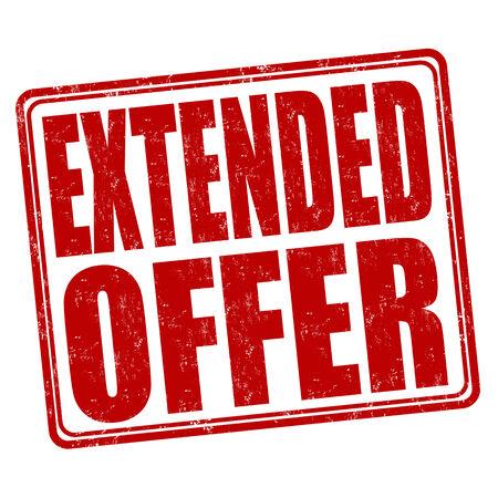 extended: Extended offer grunge rubber stamp on white background, vector illustration Illustration