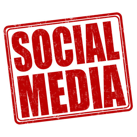 Social media grunge rubber stamp on white background, vector illustration Vector