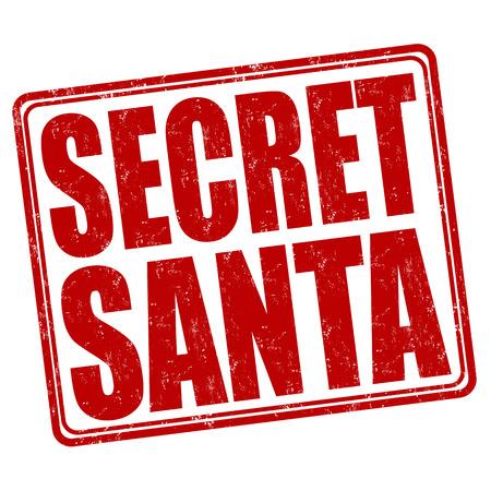 Geheime Kerstman grunge rubber stempel op een witte achtergrond, vector illustratie