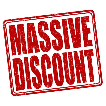massive: Massive discount grunge rubber stamp on white background, vector illustration Illustration