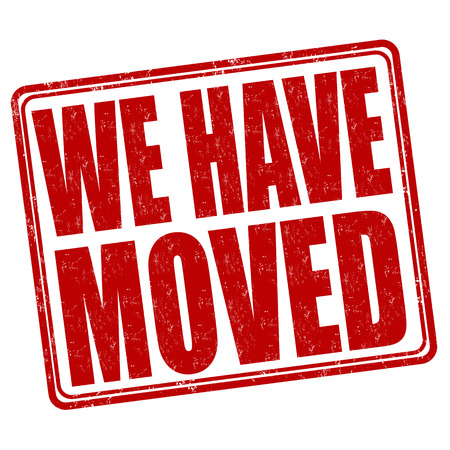 family moving house: We have moved grunge rubber stamp on white background, vector illustration Illustration