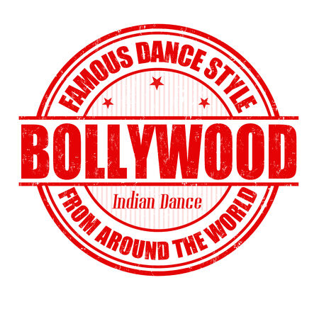 bollywood: Famous dance style, bollywood grunge rubber stamp on white, vector illustration Illustration