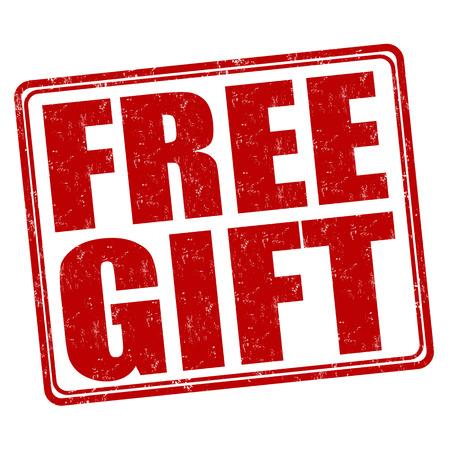 Free gift grunge rubber stamp on white background, vector illustration