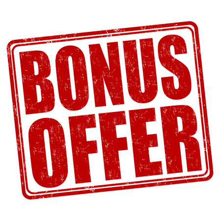 bonus: Bonus offer grunge rubber stamp on white background, vector illustration