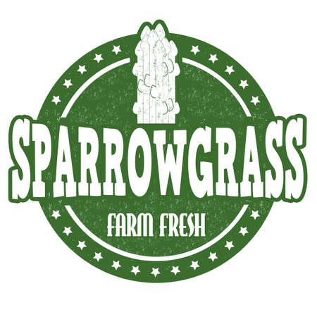 Sparrowgrass grunge rubber stamp or label on white, vector illustration