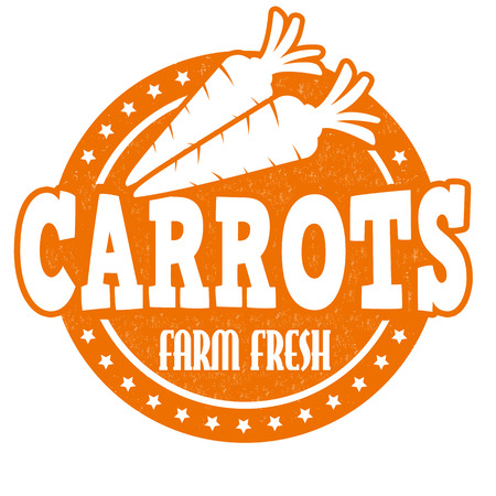 inspected: Carrots grunge rubber stamp or label on white, vector illustration