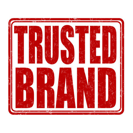 trusted: Trusted brand grunge rubber stamp on white background, vector illustration Illustration