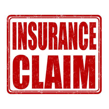 insured: Insurance claim grunge rubber stamp on white background, vector illustration