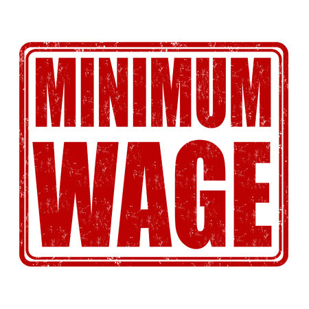 Minimum wage grunge rubber stamp on white background, vector illustration