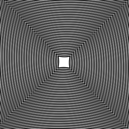 psycho: Abstract, hypnotic background on black and white, vector illustration Illustration