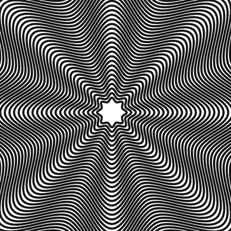 hypnotherapy: Abstract, hypnotic background on black and white