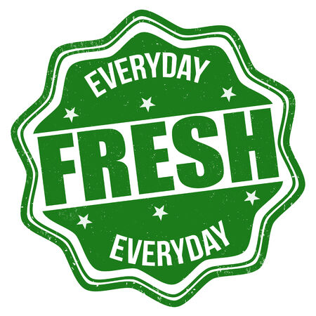 everyday: Fresh everyday grunge rubber stamp on white background