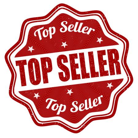 top seller: Top seller grunge rubber stamp on white background Illustration