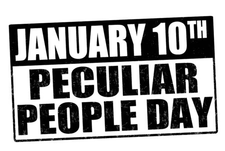 peculiar: Peculiar people day day grunge rubber stamp on white, vector illustration