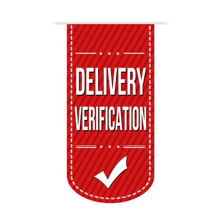 verification: Delivery verification banner design over a white background, vector illustration