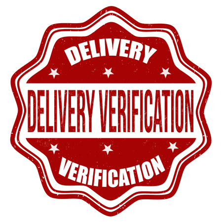 verification: Delivery verification grunge rubber stamp on white background, vector illustration Illustration