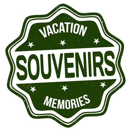 souvenirs: Souvenirs grunge rubber stamp on white background, vector illustration Illustration