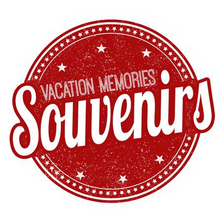 souvenirs: Souvenirs grunge rubber stamp on white background, vector illustration Illustration