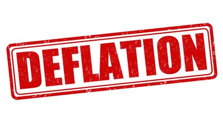 deflation: Deflation grunge rubber stamp on white, vector illustration Illustration