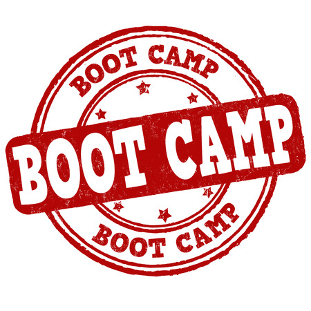 correctional: Boot camp grunge rubber stamp on white background, vector illustration