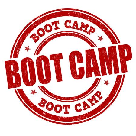 boots: Boot Camp grunge sello de goma en el fondo blanco, ilustraci�n vectorial