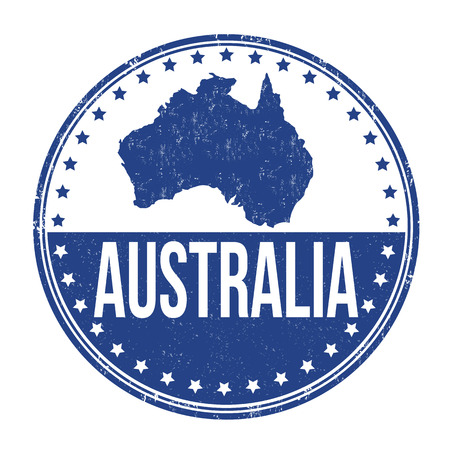 australia stamp: Australia grunge rubber stamp on white background, vector illustration Illustration