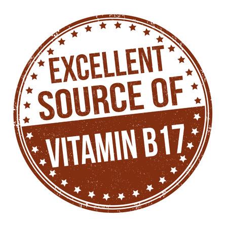 advertiser: La vitamina B17 grunge timbro di gomma su sfondo bianco, illustrazione vettoriale Vettoriali