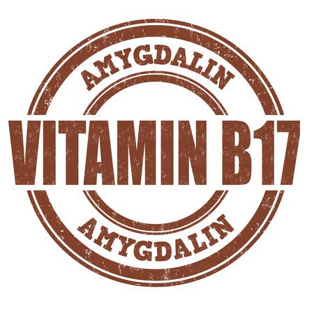 advertize: Vitamin B17 grunge rubber stamp on white background, vector illustration Illustration