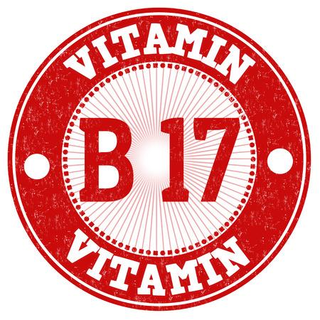 17: Vitamin B17 grunge rubber stamp on white background, vector illustration Illustration