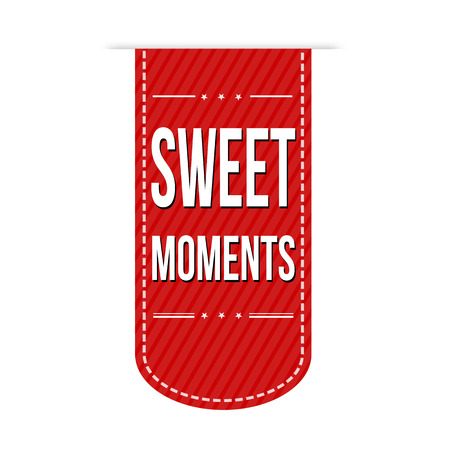 moments: Sweet moments banner design over a white background, vector illustration